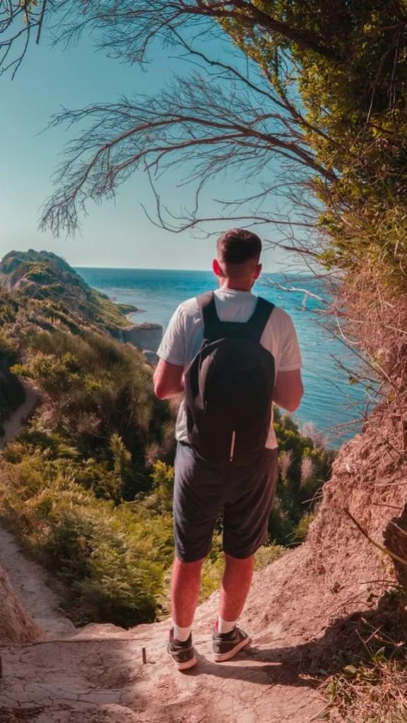 Gap Year adventurer exploring