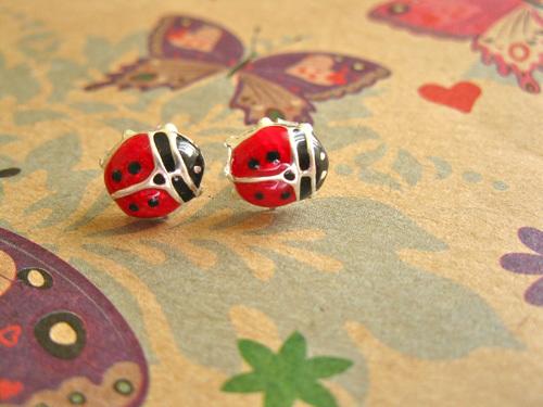 Ladybird earring studs