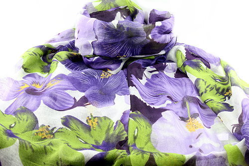 Lily flower scarf