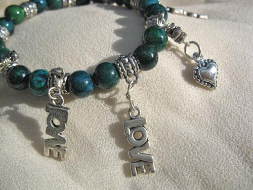 Love charm bracelet jewellery