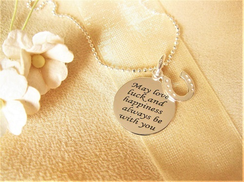 Love luck happiness necklace