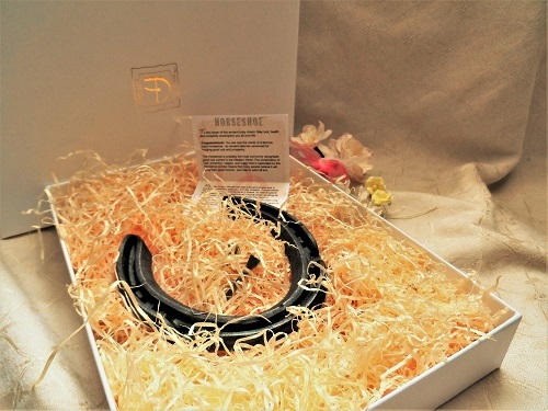 Lucky horseshoe gift for relocation