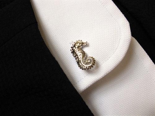 Lucky seahorse cufflinks