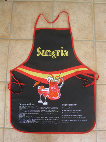 Sangria party apron