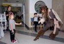 Johnny Depp visits B.C. Children's Hospital dressed as Capt. Jack Sparrow