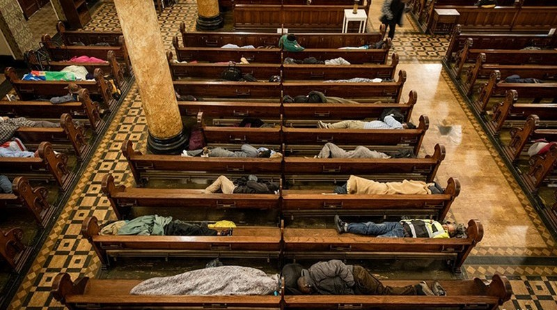 This Church Lets The Homeless Sleep Inside. They Also Offer Blankets And Massages