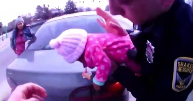 Body Cam Footage Shows Ohio Police Officers Saving Choking Baby