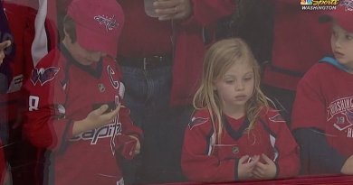 A Capitals player relentlessly tried to get a little girl a puck before a game and earned praise from the sports world