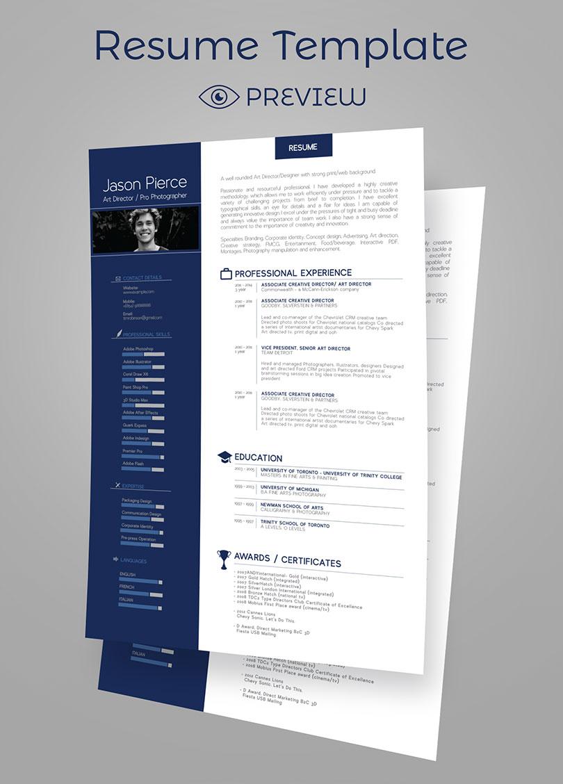 Simple Premium Resume CV Design Cover Letter Template 4 PSD Mock Ups Amp 100 Resume Icons