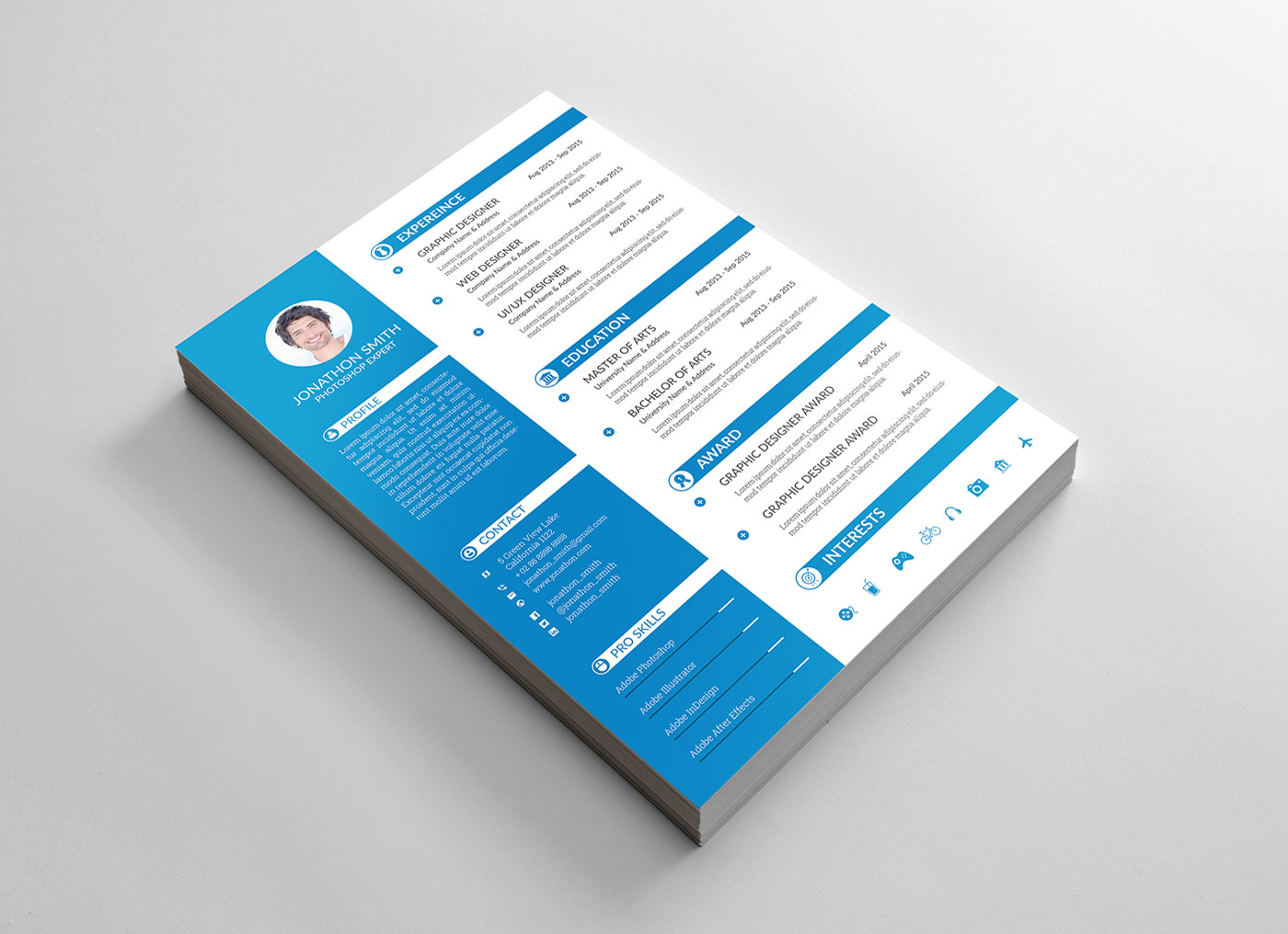 Free Psd Resume Cv Amp Cover Letter Template For Ui And Ux