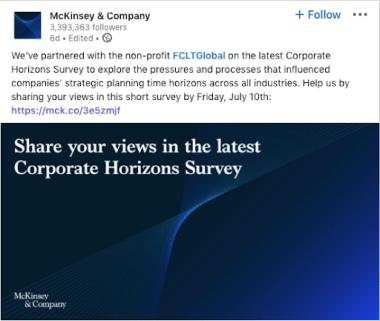 McKinsey on LinkedIn