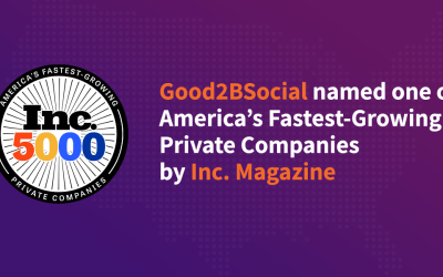 Good2bSocial named one of America's Fastest-Growing Private Companies by Inc. Magazine