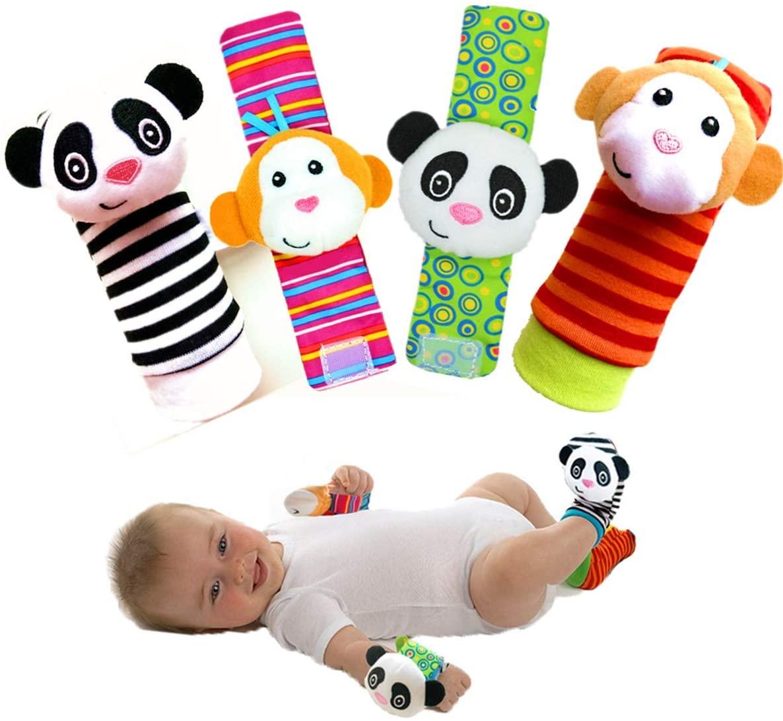 Infant Rattle Toy Socks & Wrist Rattles