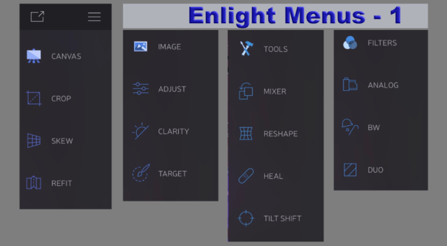 Enlight Menus