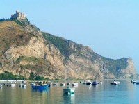 This is the view of Tindari from our Camping site.