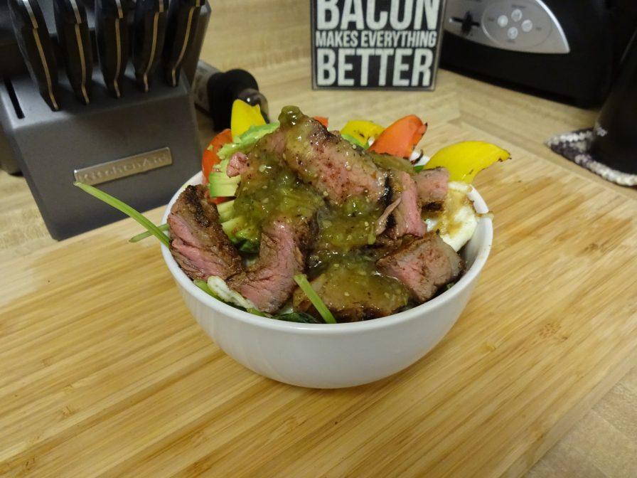 Steak and Eggs Salad – Cinco de Mayo style!