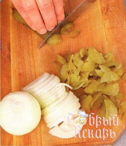 Солянка с печеным перцем приготовление 2