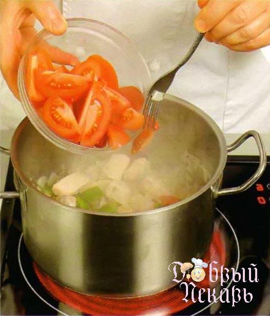 Сливочный суп с красной рыбой приготовление 5