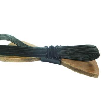 houten strikje met elastisch sluiting - wooden bow tie