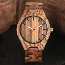 zebra bamboo houten horloge
