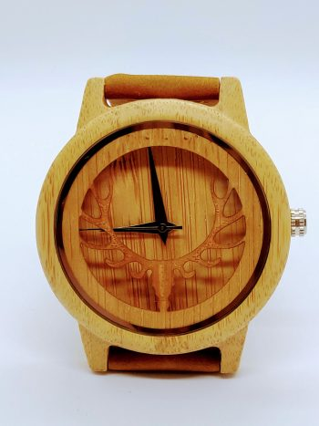 Bamboo-antlers-wooden-watch