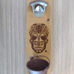 Wooden opener hoppy sugar skull