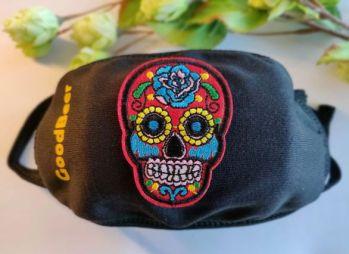Mondmasker GoodBeer rode skull fashion