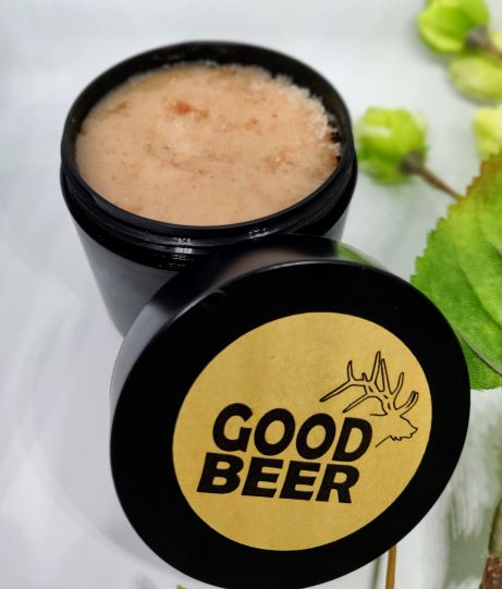 Body and face scrub hops and pink salt
