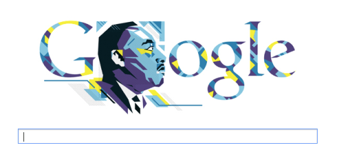 Google MLK Day Seach Window