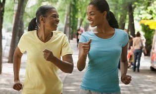 Women Powerwalking © Copyright 2010 CorbisCorporation