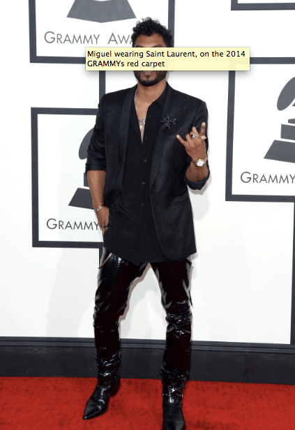 2014 Grammys Red Carpet Arrivals - Miguel
