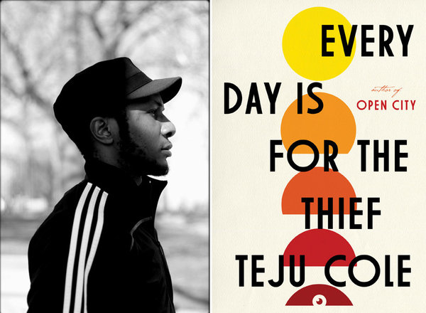 "Author Teju Cole and the cover of his book, ""Every Day is For the Thief."" (©Teju Cole / Random House)"