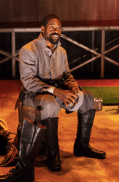 "Sterling K. Brown in ""Father Comes Home From the Wars (Parts 1, 2 & 3)."" (Photo: Richard Termine)"