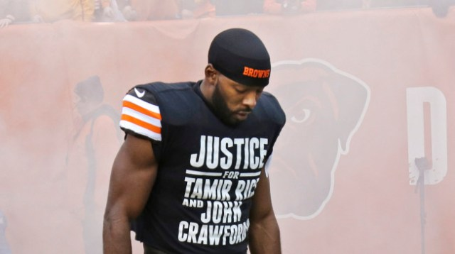 Cleveland Browns player Andrew Hawkins on Dec. 14, 2014