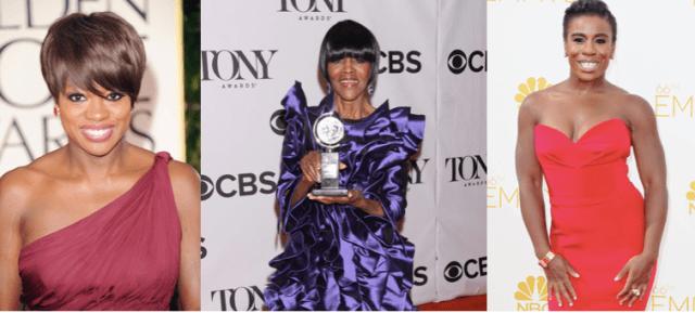 2014 SAG nominees Viola Davis (l), Cicely Tyson (c) and Uzo Aduba (r)