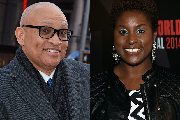 Larry Wilmore and Issa Rae