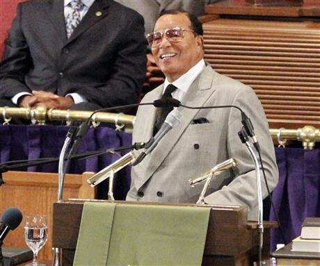 Nation of Islam Leader Louis Farrakan (photo via Associated Press)