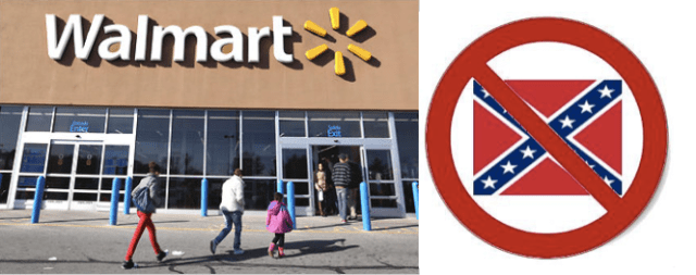 Walmart says in a statement released Monday it will no longer carry Confederate flag merchandise (Photo via goodblacknews.org)