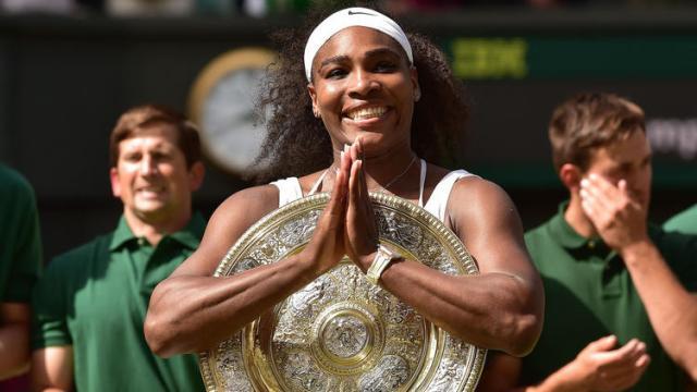Serena Wins Wimbledon (Photo via latimes.com)