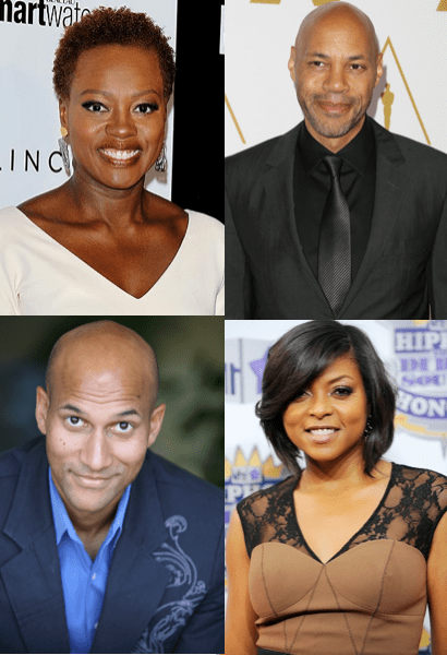2015 Primetime Emmy Nominees Viola Davis, John Ridley (top), Keegan-Michael Key and Taraji P. Henson (bottom)