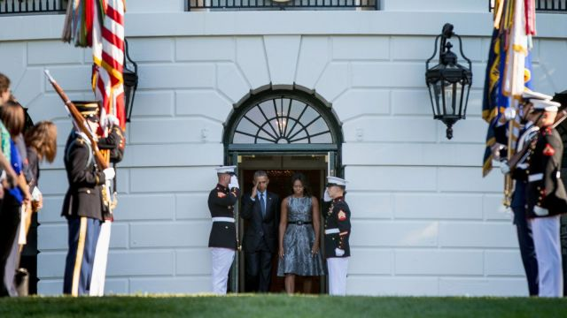 President Barack Obama and First lady Michelle Obama on 9/11/15. (Photo via abcnews.go.com)