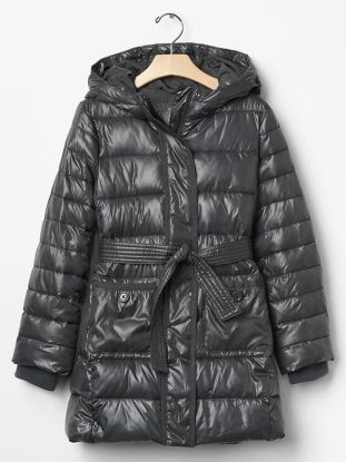 Shine long tie-belt puffer - The Gap