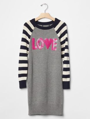 Embellished love sweater dress  - The Gap