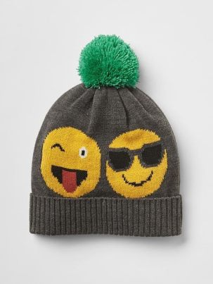 Happy face pom-pom beanie - The Gap