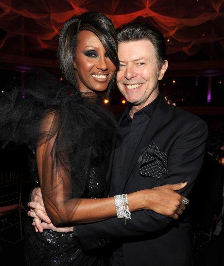 David Bowie with Supermodel wife Iman (photo via popsugar.com)