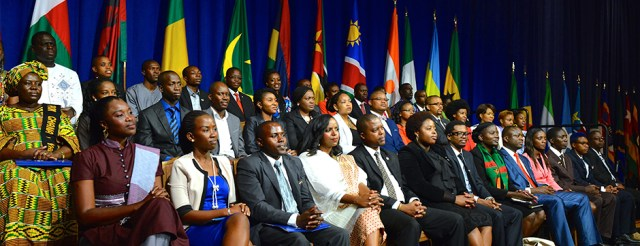 2014 Mandela Washington Fellows during the Summit with President Obama (photo via youngafricanleaders.state.gov)