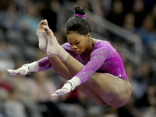 Gabby Douglas at American Cup (photo via Getty Images)