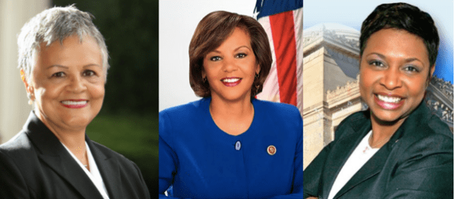 U.S. Representatives (l-r) Bonnie Watson Coleman, Robin Kelly, and Yvette D. Clarke