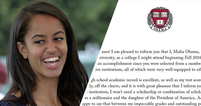Malia Obama chooses Harvard (photo via above average.com)