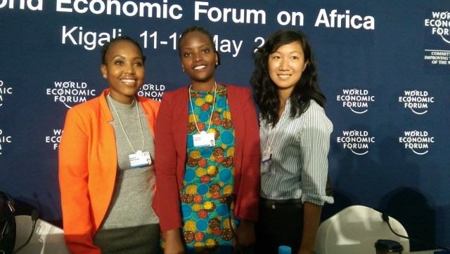 Three of WEF's top five African women innovators (photo via VenturesAfrica.com)